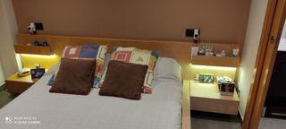 habitación de matrimonio sin colchón,
