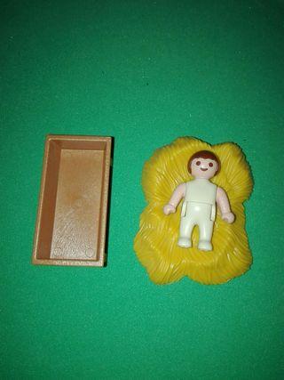 playmobil bebe cuna pesebre portal de belen