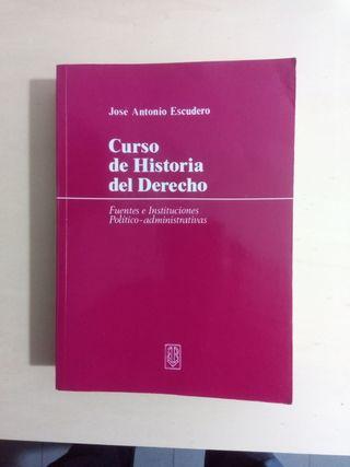 Libro - Curso de historia del derecho
