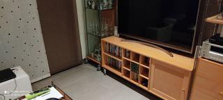 Mueble TV y vitrina de cristal Pilma