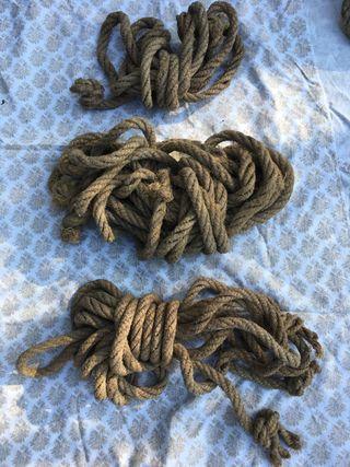Cuerdas esparto antiguas