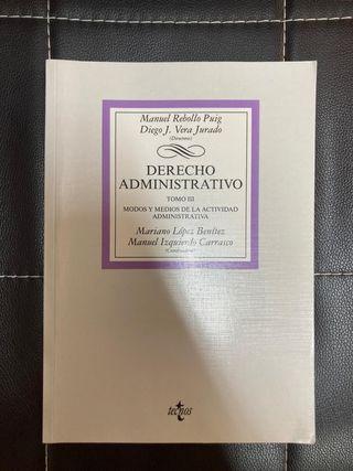 LIBRO/MANUAL DERECHO ADMINISTRATIVO TOMO III