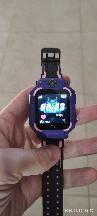 Reloj Smartwatch para Niña lila/rosa