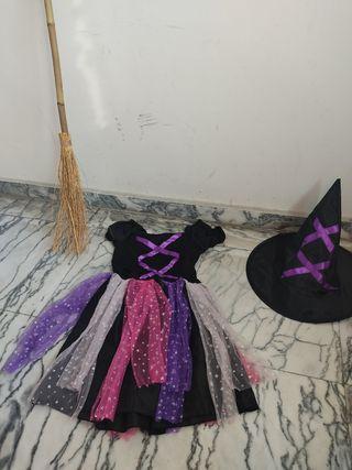 disfraz de niña bruja