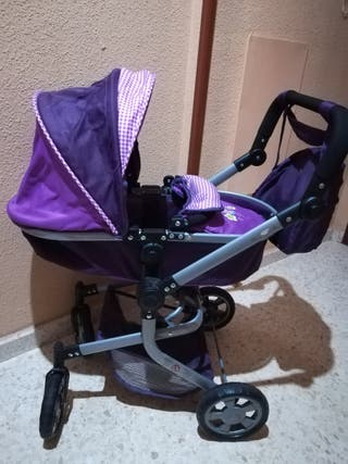 Carro / cochecito (capazo y silleta) para muñeca