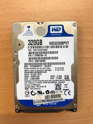 Disco duro mini 320 gb NUEVO