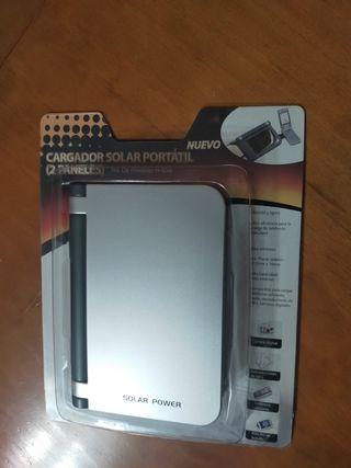 cargador solar portátil (2 paneles)