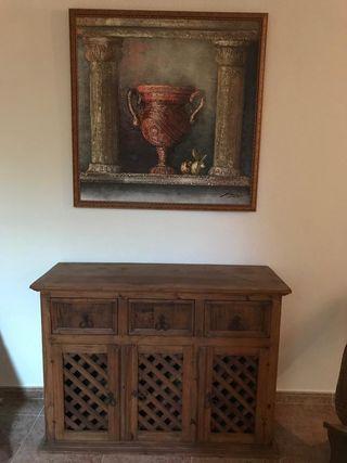 Recibidor aparador madera mueble mejicano