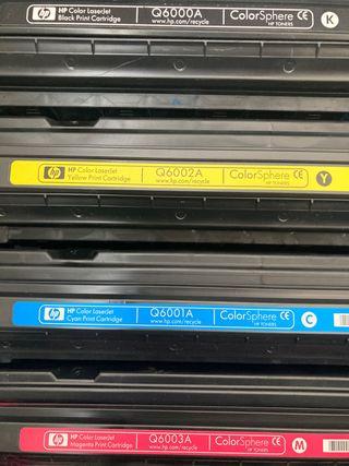 Cartuchos color HP originales Q6000