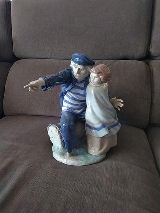 Figura Marinero y niño de Lladró 1978