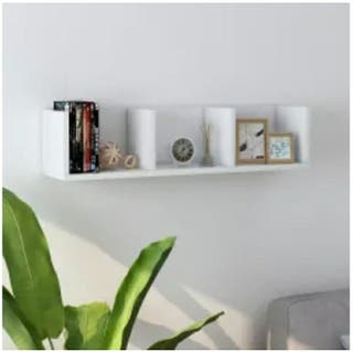 Estante cds pared blanco