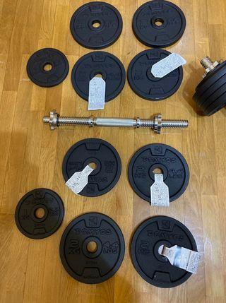 Conjunto Mancuerna 20kg pack2