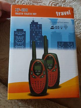 pack 4 walkie talkie alcance 5 km nuevo a estrenar
