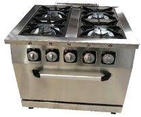 cocina a gas con horno 5 quemadores