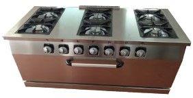 cocina a gas con horno 7 quemadores