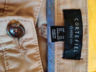 Pantalones chinos marrón claro Cortefiel