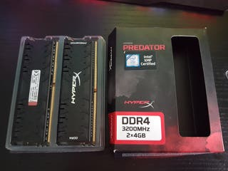 RAM - KINGSTON HYPERX DDR4 3200MHZ 2x4GB [8GB]