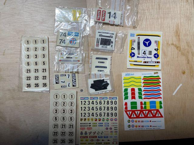 Calcas y adhesivos Scalextric, Exin, Tyco