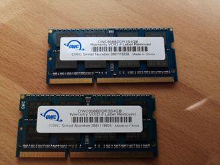 Memoria OWC 8Gb (2x4Gb) SO-DIMM DDR3 1066 Mhz