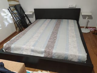 ¡OPORTUNIDAD! Estructura cama Ikea+mueble cabecero