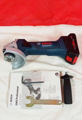 Radial Bosch GWS 18V 125 _V- LI Batería