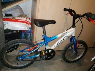 bicicleta de 16pulgadas.