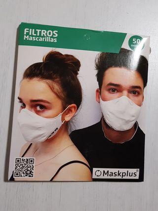 Filtros mascarillas Maskplus.