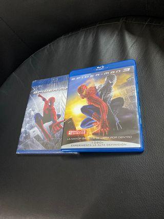 2 películas de Spiderman-Man en Blu-ray