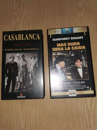 CASABLANCA Y MÁS DURA SERÁ LA CAÍDA en VHS