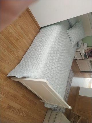 somier, cabecero y colchón cama juvenil