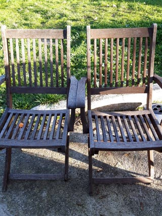 Sillas madera jardín