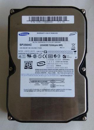 Disco duro 3,5 Samsung 250Gb