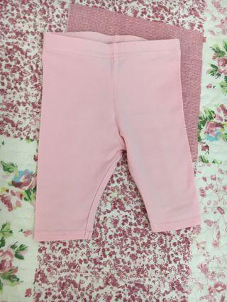 Mallas pirata de niña talla 9/12 meses. Color rosa