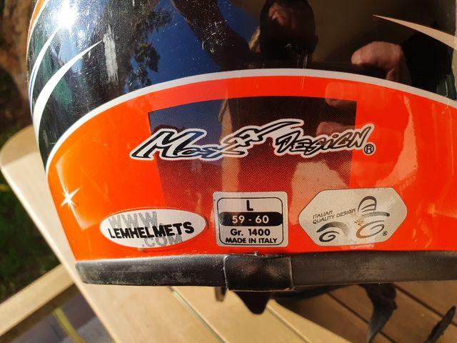 Casco de moto talla L 59-60