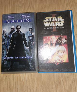 VHS MATRIX Y STAR WARS Episodio I.