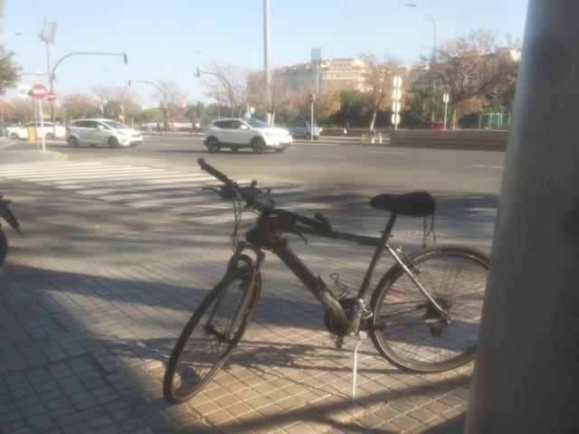 Bici de montaña, con ruedas híbridas