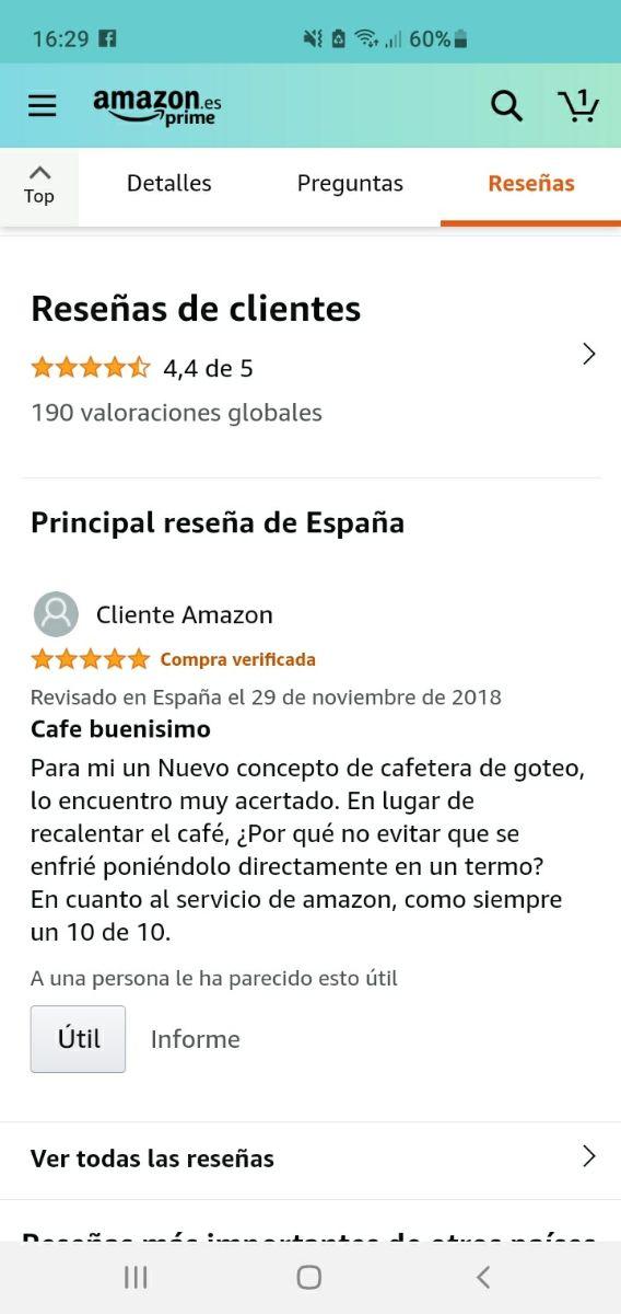 A ESTRENAR cafetera termo Philips. ¡Vale 78€!