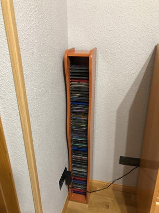 Soporte CDs de madera