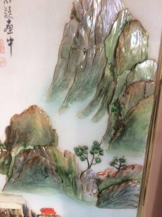 Cuadro con imágenes orientales