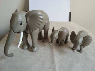 Playmobil elefantes animales circo safari zoo city
