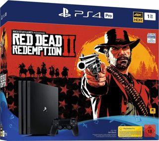 PS4 PRO + MANDO + RED DEAD REDEMPTION 2