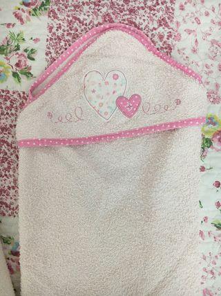 Dos capas de baño bebé color rosa