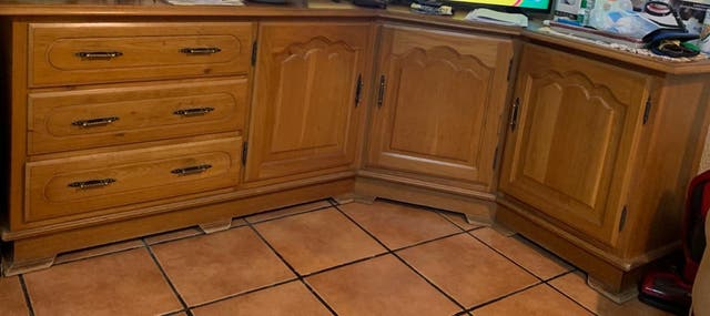 Mueble rinconera madera de roble