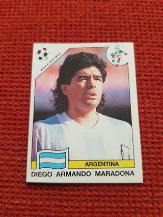 Cromo Maradona Italia 90 Panini