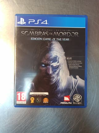 Sombras De Mordor, PS4