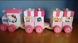 Tren madera Hello Kitty