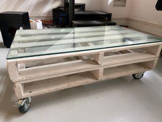Mesa de centro, mesa de café pallets