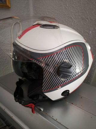 casco de moto jep con gafas nuevo