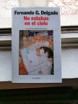 """Libro """"No estabas en el cielo"""" Fernando G. Delgado"""