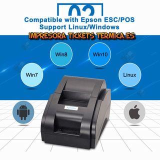 IMPRESORA DE TICKETS TERMICA USB 58 MM